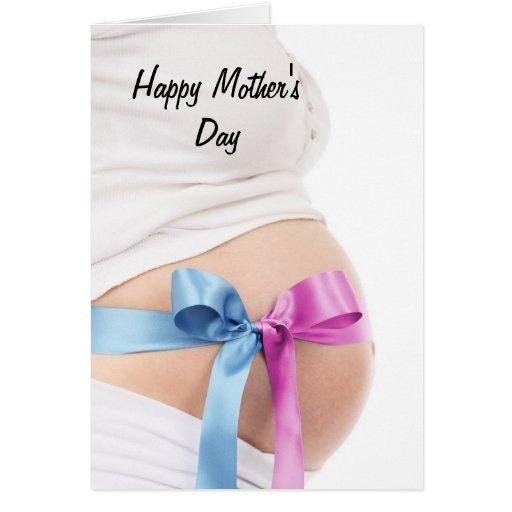 Mãe expectante do dia das mães cartao