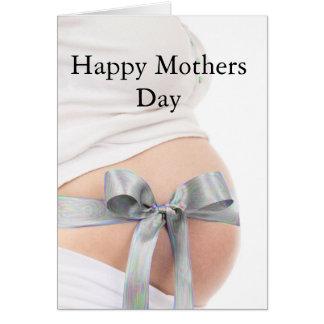 Mãe expectante do dia das mães cartão comemorativo