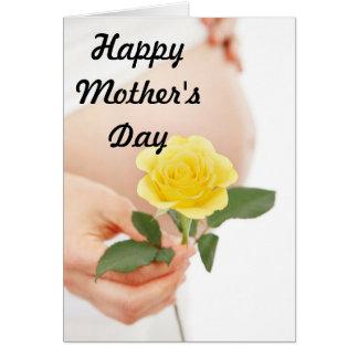 Mãe expectante Yelliow do dia das mães Cartoes