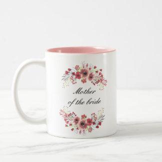 Mãe floral da caneca da noiva