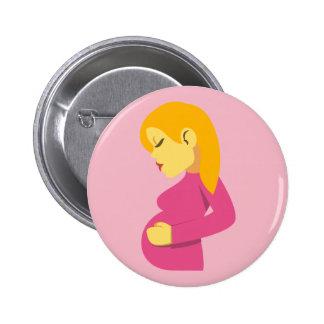 Mãe grávida Emoji Bóton Redondo 5.08cm
