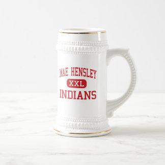 Mae Hensley - indianos - júnior - Ceres Califórnia Canecas