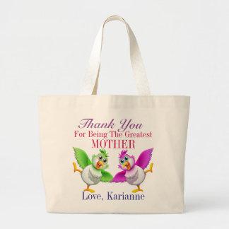 Mãe, irmã, amigo, avó, professor sacola tote jumbo