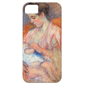 Mãe Jeanne de Mary Cassatt- que nutre seu bebê Capa Para iPhone 5