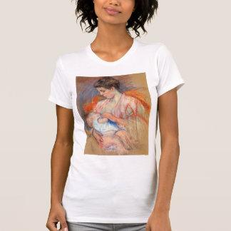 Mãe Jeanne de Mary Cassatt- que nutre seu bebê Camisetas