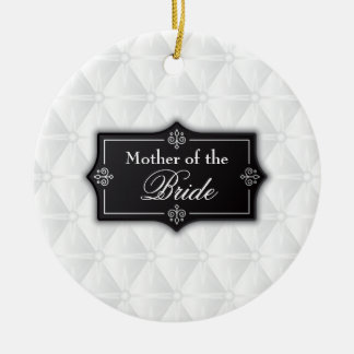 Mãe luxuoso da noiva que Wedding o ornamento de |