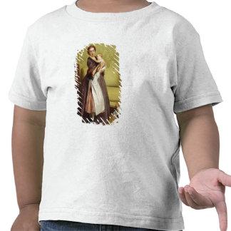 Mãe nova com suas crianças em um salão de beleza t-shirt