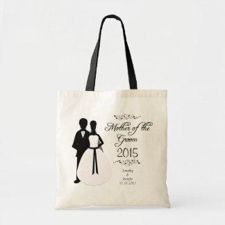 Mãe personalizada do saco do favor do casamento do sacola tote budget