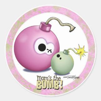 Mães a bomba adesivos