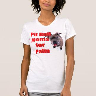 Mães de Pitbull para Sarah Palin Camiseta