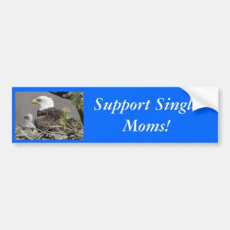 Mães solteiras do apoio da águia americana! adesivo para carro