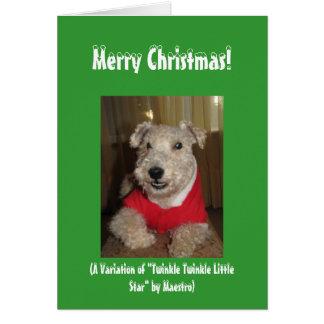 Maestros os cartões de Natal de Lakeland Terrier