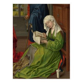 Magdalen na leitura verde cartão postal
