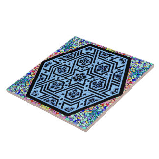 Magen David geométrico Azulejos