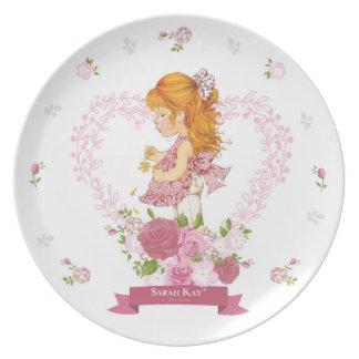 Magenta da placa #4 da porcelana de Sarah Kay Prato De Festa