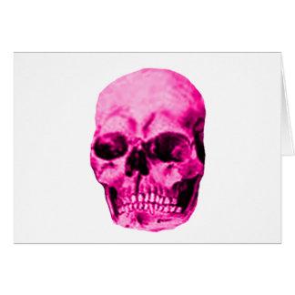 Magenta do crânio os presentes de Zazzle do MUSEU Cartão Comemorativo