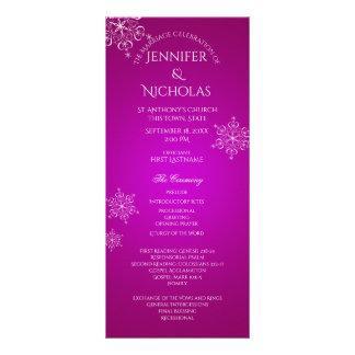 Magenta do programa do casamento no inverno do 10.16 x 22.86cm panfleto