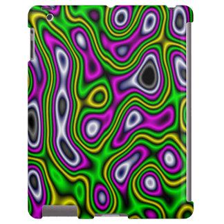 Magenta do verde amarelo do labirinto do Fractal Capa Para iPad