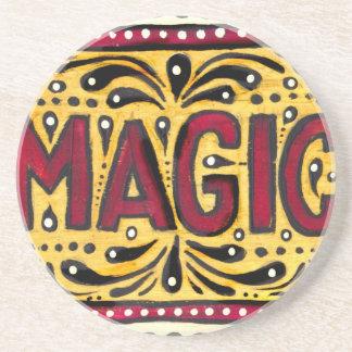 Mágica aciganada porta copos de arenito