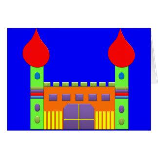 Mágica Castell da fantasia do bombom Cartão Comemorativo