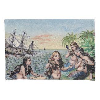 Mágica da antiguidade do vintage da sereia náutica
