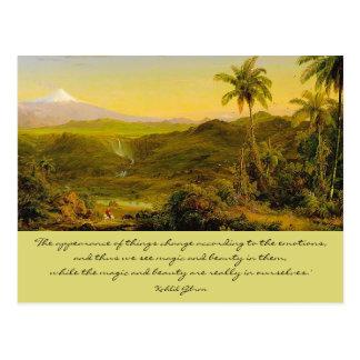 mágica e beleza cartão postal