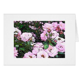 Mágica entre os rosas cartão comemorativo