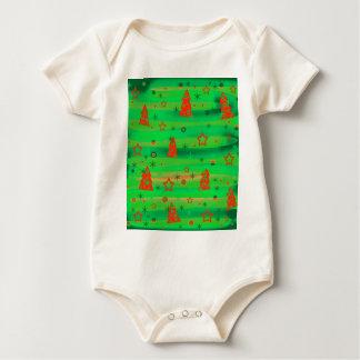 Mágica verde do Xmas Body Para Bebê