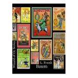 Mágico de Oz L cartão da colagem de Frank Baum Cartoes Postais