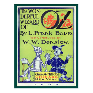 Mágico de Oz maravilhoso Cartoes Postais