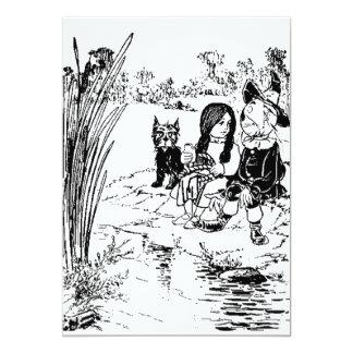 Mágico de Oz Toto, Dorothy e espantalho Convite 12.7 X 17.78cm