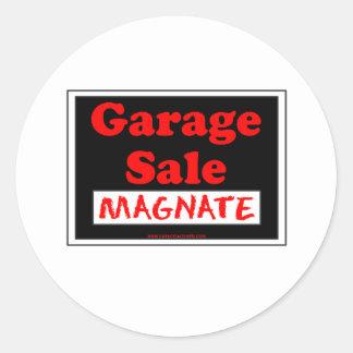 Magnate da venda de garagem adesivos redondos