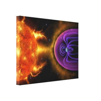Magnetosfera - canvas de arte 18x24 da ciência esp impressão de canvas esticadas