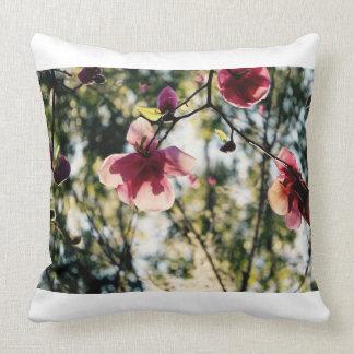 Magnólia - flores bonito - flores cor-de-rosa - almofada
