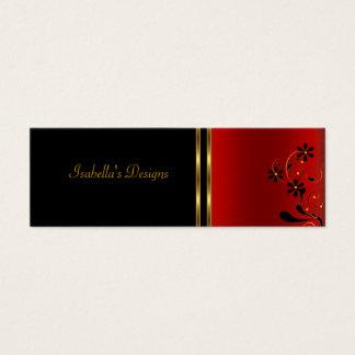 Magro floral preto vermelho do cartão de visita