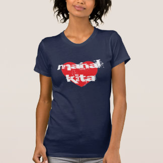 Mahal Kita eu te amo no Tagalog T-shirt