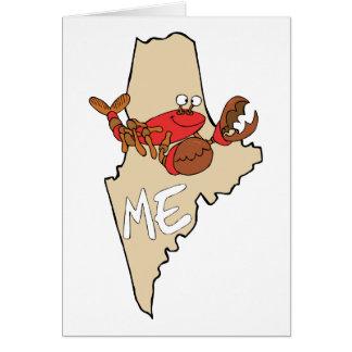 Maine MIM mapa dos desenhos animados com arte da l Cartões