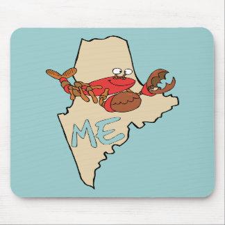 Maine MIM mapa dos desenhos animados com arte da l Mousepads