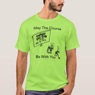 Maio o curso seja com você camisa do golfe