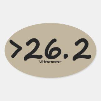 Maior de 26,2 4) etiquetas do Ultrarunner