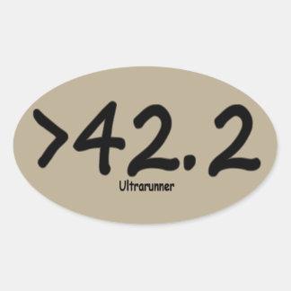 Maior de 42,2 4) etiquetas Brown do Ultrarunner (