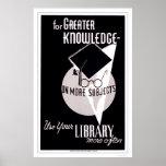 Mais biblioteca do conhecimento WPA 1940 Posteres