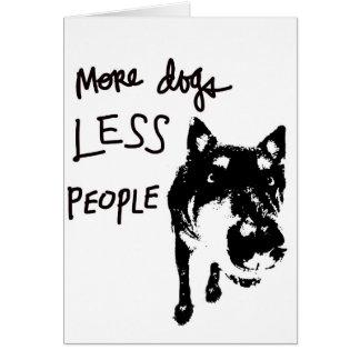 Mais cães, menos pessoas do cartão