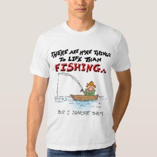 Mais coisa-pesca camiseta