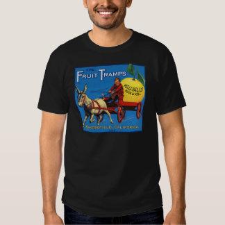 Mais divertimento da caminhada da fruta camisetas