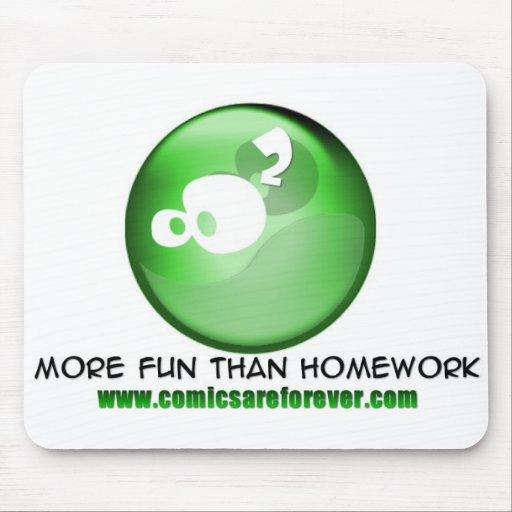 Mais divertimento do que trabalhos de casa… mousepads