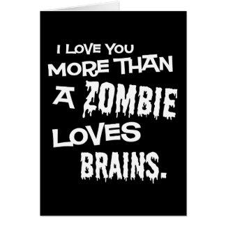 Mais do que um zombi ama cérebros cartões