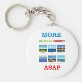 mais energia mais limpa o mais cedo possível chaveiro