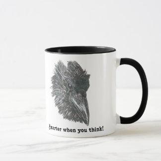 Mais esperto quando você pensar a caneca do corvo