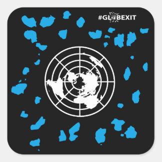 Mais etiquetas do canto redondo do #GLOBEXIT da